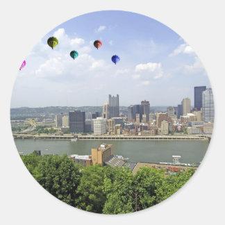 Pittsburgh City Pennsylvania Classic Round Sticker