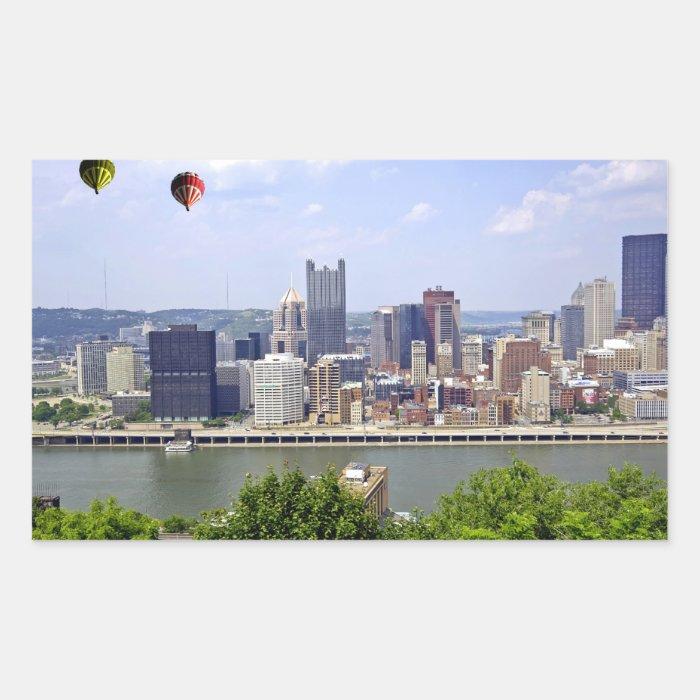 Pittsburgh City Pennsylvania Rectangular Sticker