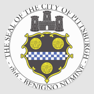 Pittsburgh City Seal Classic Round Sticker