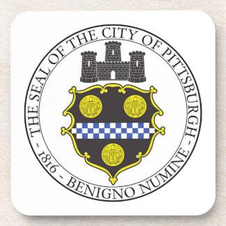 Pittsburgh City Seal Beverage Coasters