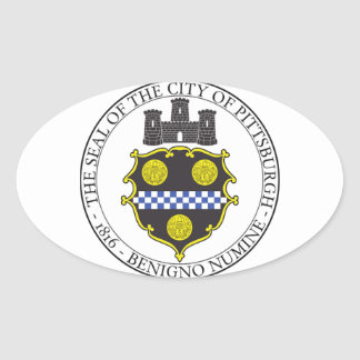 Pittsburgh City Seal Oval Sticker