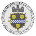 Pittsburgh City Seal Party Plates