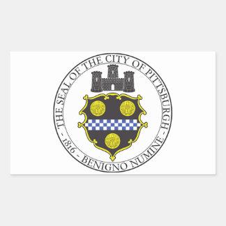 Pittsburgh City Seal Rectangular Sticker