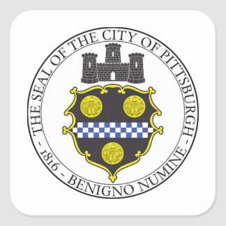Pittsburgh City Seal Square Sticker