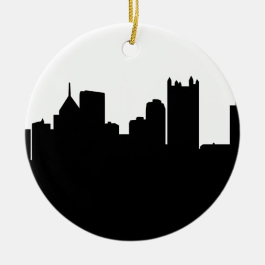 Pittsburgh City Skyline Ceramic Ornament