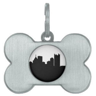 Pittsburgh City Skyline Pet ID Tag