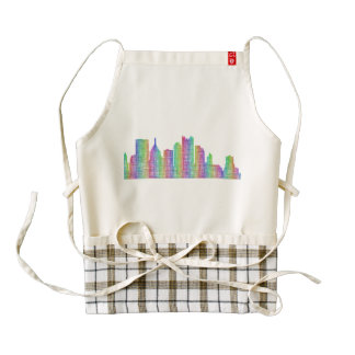 Pittsburgh city skyline zazzle HEART apron