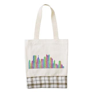 Pittsburgh city skyline zazzle HEART tote bag
