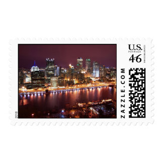 Pittsburgh Cityscape Stamp