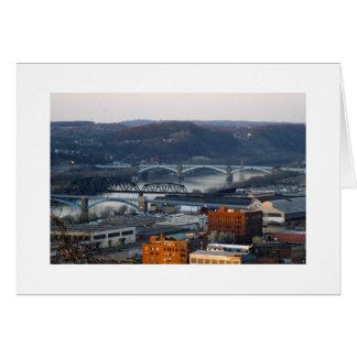 Pittsburgh ciudad de puentes tarjetas