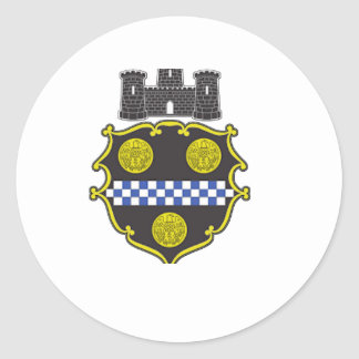 Pittsburgh Coat of Arms Classic Round Sticker