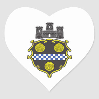 Pittsburgh Coat of Arms Heart Sticker