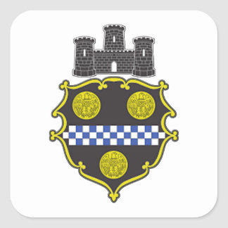 Pittsburgh Coat of Arms Square Sticker