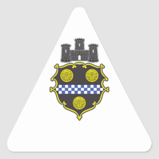 Pittsburgh Coat of Arms Triangle Sticker