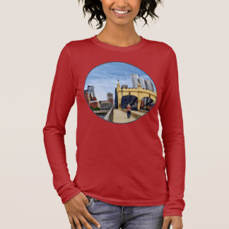 Pittsburgh - Crossing the Smithfield Street Bridge Long Sleeve T-Shirt