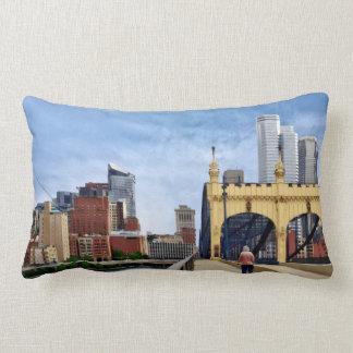 Pittsburgh - Crossing the Smithfield Street Bridge Lumbar Pillow