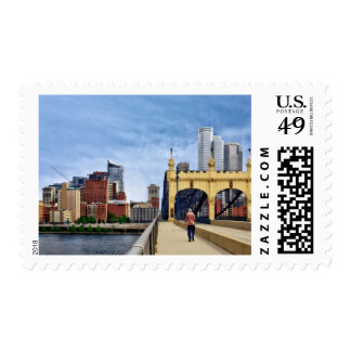 Pittsburgh - Crossing the Smithfield Street Bridge Postage