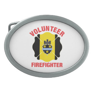 Pittsburgh, cruz del bombero del voluntario de la hebilla de cinturón oval