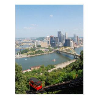 Pittsburgh de Mt Washington Tarjeta Postal