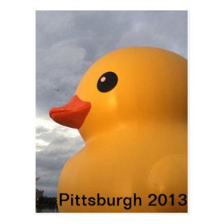 Pittsburgh Ducky de goma Tarjetas Postales