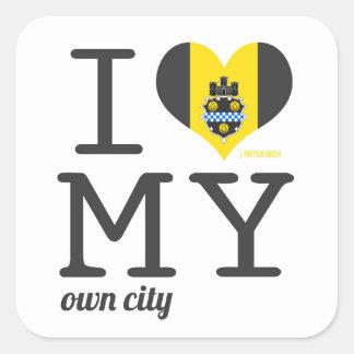 Pittsburgh el | Pennsylvania Pegatina Cuadrada
