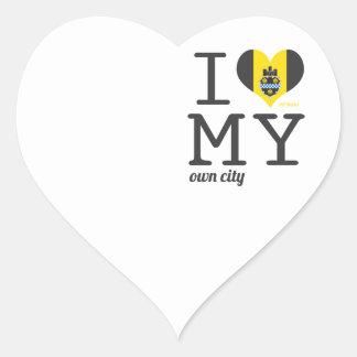 Pittsburgh el | Pennsylvania Pegatina En Forma De Corazón