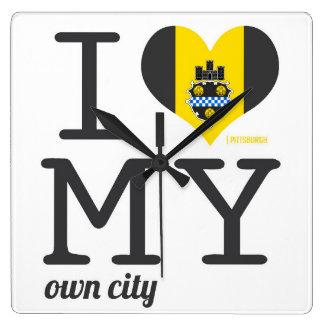 Pittsburgh el | Pennsylvania Reloj Cuadrado