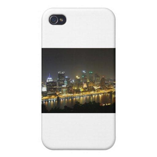 Pittsburgh en la noche iPhone 4/4S carcasa