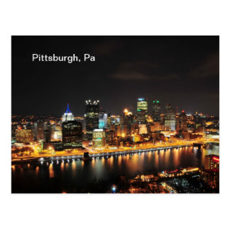 Pittsburgh en la noche postal