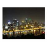 Pittsburgh en la noche tarjetas postales
