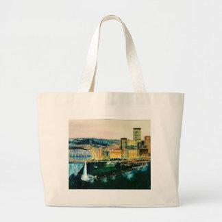 Pittsburgh en la oscuridad bolsa tela grande