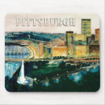 Pittsburgh en la oscuridad MousePad Tapetes De Raton