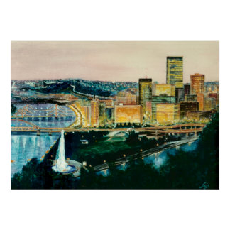 Pittsburgh en la oscuridad póster