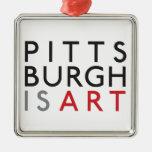 Pittsburgh es ornamento del día de fiesta del arte ornamentos de reyes magos