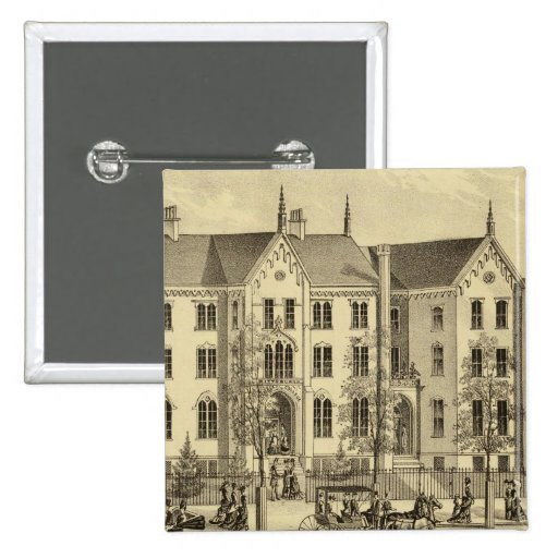 Pittsburgh Female College Pittsburgh 2 Inch Square Button