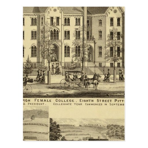 Pittsburgh Female College Pittsburgh Post Cards