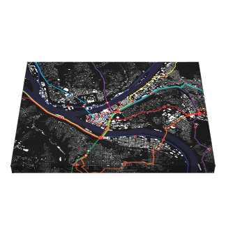 Pittsburgh Figure Ground Canvas Wrap