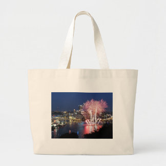 Pittsburgh Fireworks Tote Bags