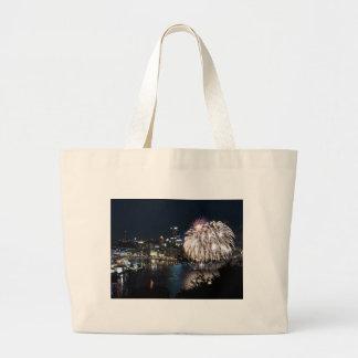 Pittsburgh Fireworks Tote Bag