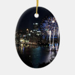 Pittsburgh Fireworks Christmas Ornaments