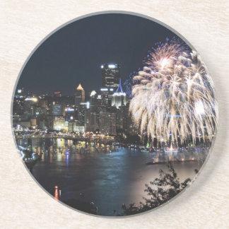 Pittsburgh Fireworks Coasters