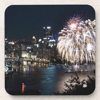 Pittsburgh Fireworks Drink Coaster