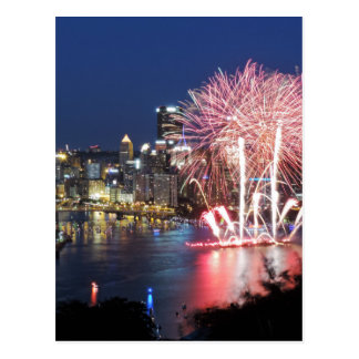 Pittsburgh Fireworks Post Cards