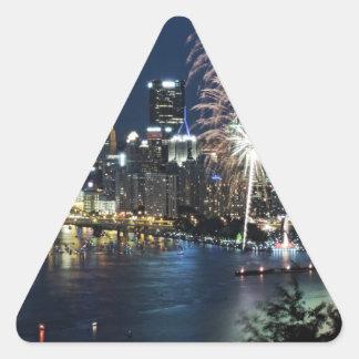 Pittsburgh Fireworks Triangle Sticker