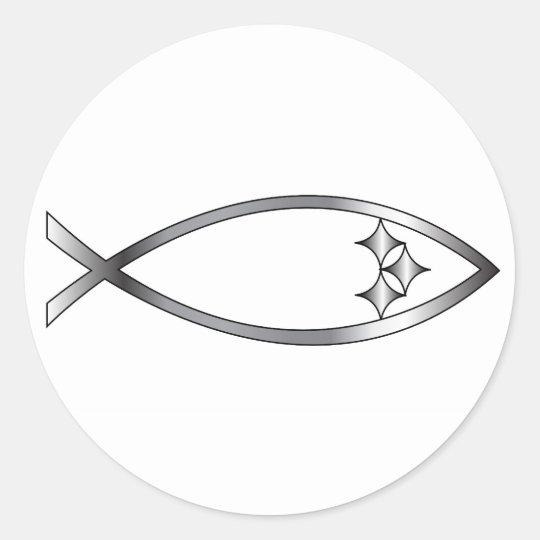 Pittsburgh Fish Classic Round Sticker