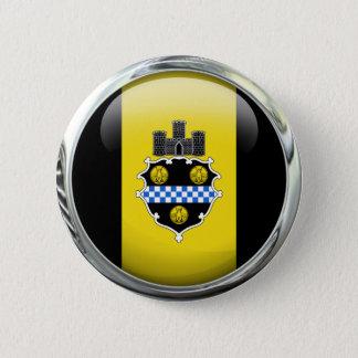 Pittsburgh Flag Glass Ball Button