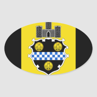Pittsburgh Flag Oval Sticker