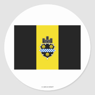 Pittsburgh Flag Round Stickers