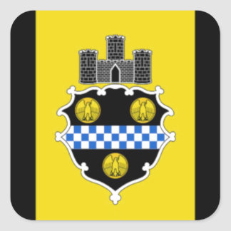 Pittsburgh Flag Square Sticker