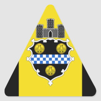 Pittsburgh Flag Triangle Sticker